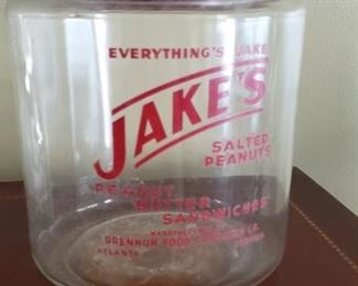 Antique Jakes Glass Jar