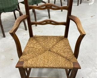 Antique Cane Botton Chair