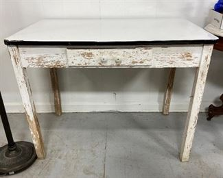 ENAMEL TOP TABLE