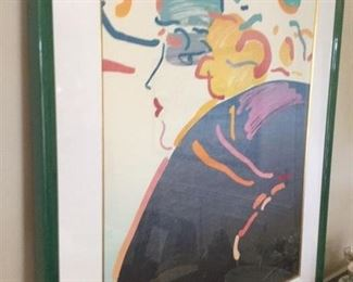 BY THE GREAT PETER MAX , A SERIGRAPH AND DATES 1983