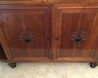 SHOWING DESIGN ON THE TWO DOOE OF THE SIDEBOARD