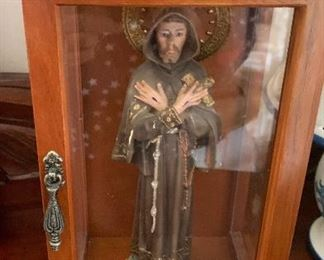 St Frances of Assisi (Made of Bisque) from Spain. $150.reduced to $100.