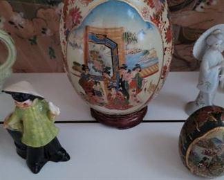 Satsuma Style Porcelain Egg