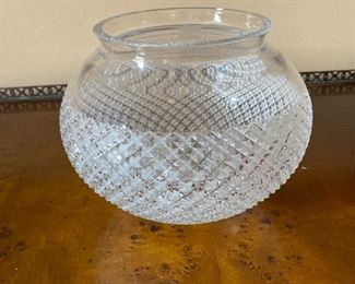"Marc Jacobs Crystal Rose Bowl 9"" x 7"" $95 - - NEW PRICE $75"