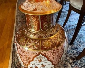 "27""T x 16""W 1920-1930 English-made Porcelain floor-size Ginger Jar in a Chinoiseries Style $400 - - NEW PRICE $325"