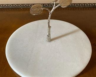"Michael Aram Marble Olive Branch Serving Platter 11"" D  $45"