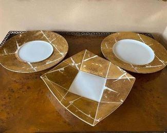 """3 Bernardald Limoges Platters 12"""" $28 each"""