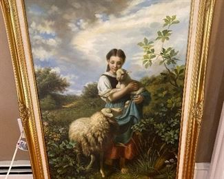 "The Shepherdess Reproduction approx. 42"" x 30"" $325"