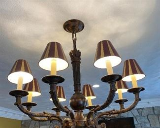 "8 Lights Chandelier 36"" x 32"" $495"