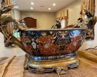 "Elaborate Centerpiece Bowl  27"" x 16"" $325"