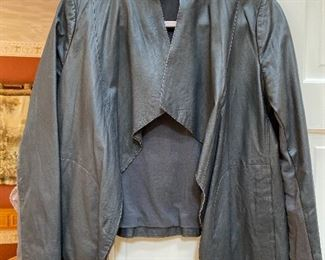 PURE Dkny Draped Open Soft Leather Jacket Size Medium $50