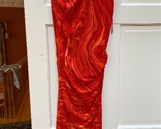 Michael Korrs One Shoulder Silky Dress Size 8 $75