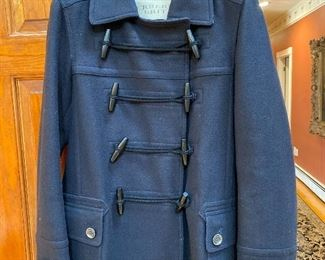Burberry Brit Navy Wool Pea Coat Size 12 $275