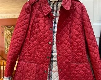 Burberry Brit Red Quilted Coat Size XL $225