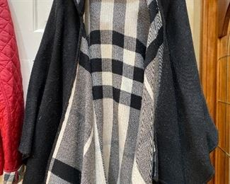Burberry Heavy Wool Cape with Hood $585
