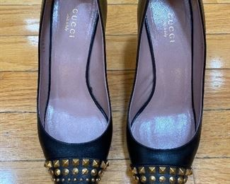 Gucci Studded Cap Toe Pumps Size 37 $185