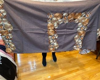 "Gray Tablecloth 72"" x 108"" $85"