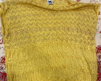 Missoni Yellow light weight sleeveless sweater Size M $55