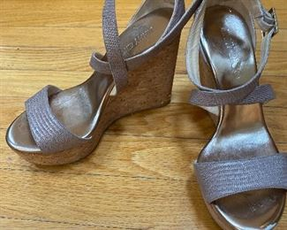 Jimmy Choo Wedges with Cork Heels Size 38 $85
