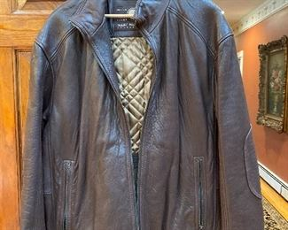 Men's Large Leather Andrew Marc bomber jacket $70
