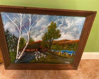 "Painting by Joseph 32"" x 34"" $145"