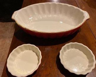 """2 - 5"""" Pie Plates ROCQ Parisian Patisserie $8; Large Bakeware $22"""