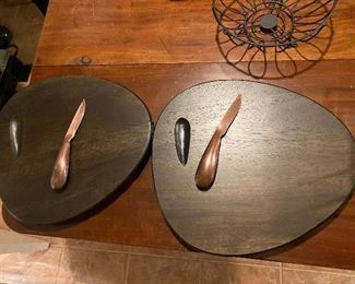 Nambe Serving Boards w/ knife Large $38; Small $32