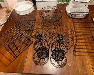 8 Black Wire storage $35