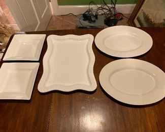 Platters: Oval $12 each; Large $18 (SOLD); Square $12 each ( 1 square sold)