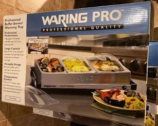 2 Waring Pro warming tray Available $55 ea