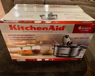 Brand new sealed box KitchenAid Crock Pot, 6 qt $58