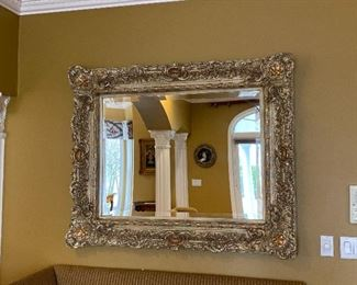 "Large Ornate Gold Mirror 55"" x 44"" $385"