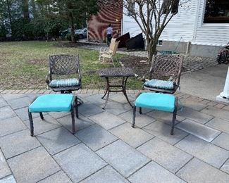 2 Swivel Chairs with Square Table $125