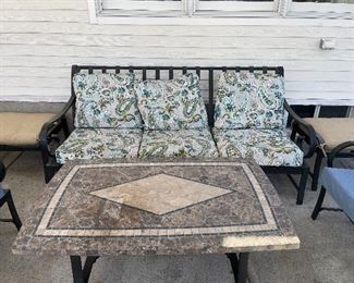 Outdoor Sofa $185; Outdoor lightweight coffee table $85