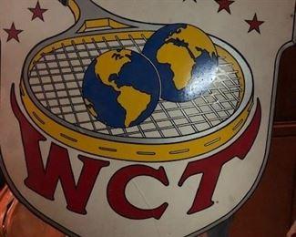 WORLD CHAMPION TENNIS (FOREST HILLS - WEST SIDE TENNIS CLUB) ADVERTISING BILLBOARD SIGN