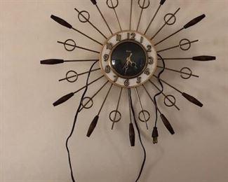 1960s MID CENTURY MODERN  WALL CLOCK
