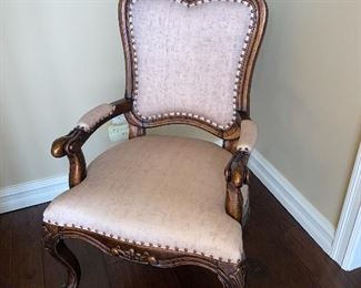 UPHOLSTERED WOOD FRAME ARMCHAIR