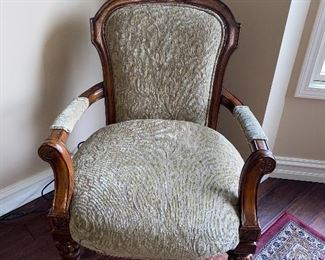 "PULASKI FURNITURE WOODEN UPHOLSTERED ARMCHAIR 28""W x 25""D x 40""H"