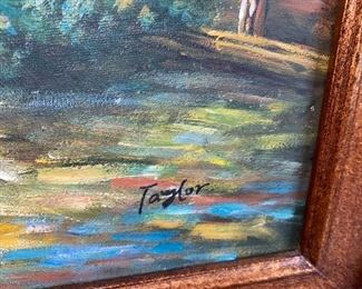 OIL ON CANVAS PAINTING BY TAYLOR