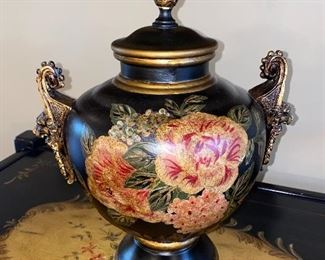 "BEAUTIFUL LIDDED URN 13.5"" HEIGHT"