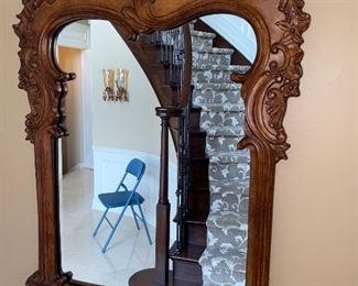"HALLWAY TABLE & MIRROR  TABLE MEASURES  30""L x 14""D x 31""H MIRROR MEASURES  34""L x 23""W"