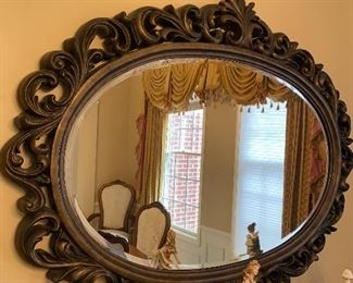 "LARGE OVAL MIRROR  54""L x 43""W x 2""D"