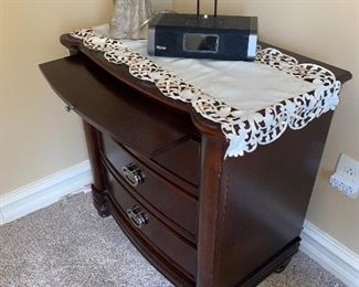 "3 DRAWER NIGHTSTAND  28""L x 17""D x 29.5""H"