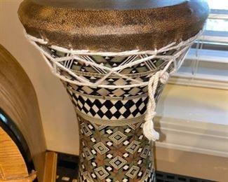 DECORATIVE DRUM WITH INLAY