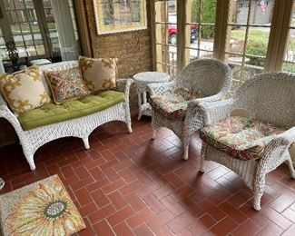 Indoor/outdoor wicker furniture