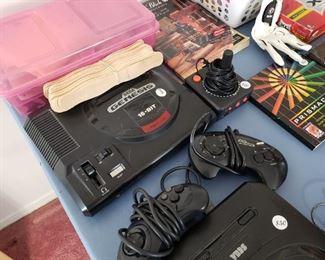 Vintage Sega Genesis 16-bit game console