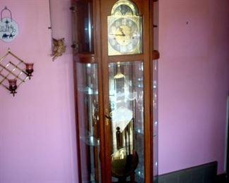 Ridgeway grandfather clock in good working order.