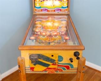 Exhibit's Vanities Vintage Pin Ball Machine. Same item as previous pinball machine photo.