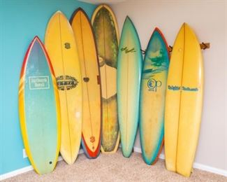 Vintage Collection of Surfboards
