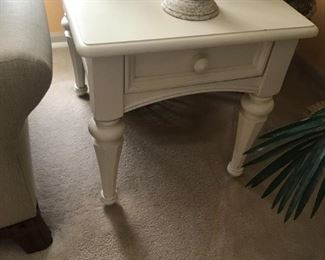 White 1 Drawer End Tble $ 124.00